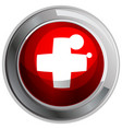 switzerland flag on round frame vector image vector image