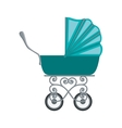 traditional baby carriage with blue soft top vector image vector image