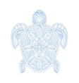 turtle stylized doodle zen coloring book page vector image