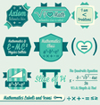 Vintage Mathematics Class Labels and Icons vector image vector image