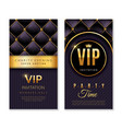 vip banners premium invitation card with golden vector image vector image