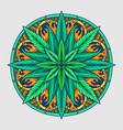 weed leaf mandala cannabis vector image vector image