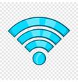 wi-fi icon cartoon style vector image vector image