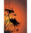 wildflowers in evening vector image vector image