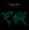 World Map Abstract Design Dot and Line Connection vector image vector image