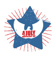 American Independence Day Symbol of countrys star vector image