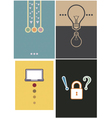 layout cover design 4 type vector image