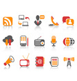 simple color Communication icons set vector image