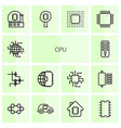 14 cpu icons vector image vector image