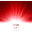 Abstract magic red light background vector image vector image