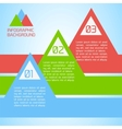 abstract paper infographic background vector image