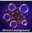 abstract space background with metal circles vector image vector image