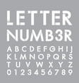 alphabetic font and number vector image