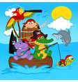animals pirates vector image