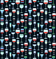background with wine glasses Bright colors vector image