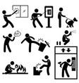 bad morale vandalism gangster icon symbol sign vector image