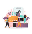 bank cashbox concept for web banner vector image