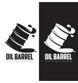 barrel of black oil vector image vector image