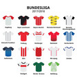 bundesliga jerseys 2017 - 2018 german football vector image vector image