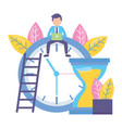 businessman clock time work vector image vector image