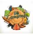 Camping adventure vector image