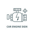 car engine sign line icon car engine sign vector image vector image