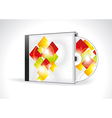 CD Cover Design with 3D Presentation Template vector image