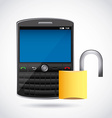cellphone security vector image vector image