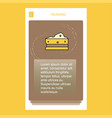 cheese mobile vertical banner design design vector image vector image