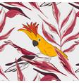 cockatoo yellow red parrot pattern wildlife bird vector image vector image