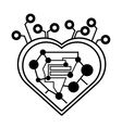 computer circuit heart electronic component linear vector image vector image