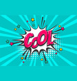 cool pop art comic book text speech bubble vector image vector image