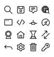 crisp internet icons vector image