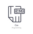 css outline icon isolated line from programming vector image vector image