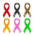 Different ribbons vector image