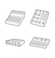 equalizer icon set outline style vector image vector image