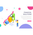 financial solution concept with characters can vector image vector image