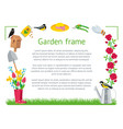 frame rectangle garden vector image
