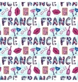 France seamless pattern with eiffel tower vector image vector image