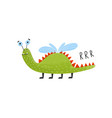 funny happy monster alien mutant cute fantastic vector image vector image