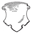 german shield are dates back to 16th century vector image vector image