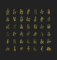 golden and trendy different ampersand icons set vector image