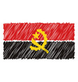 hand drawn national flag of angola isolated on a vector image