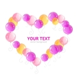 heart balloons and text vector image