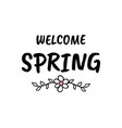 hello spring cartoon sketch vector image