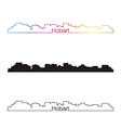 Hobart skyline linear style with rainbow vector image vector image
