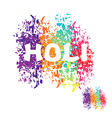 Holi celebration Color stain from brush Logo for vector image