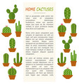 home cactuses mockup vector image vector image