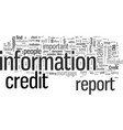 how to dispute problems on your credit report vector image vector image