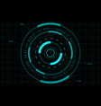 hud gui fui circle target sci-fi round head-up vector image vector image
